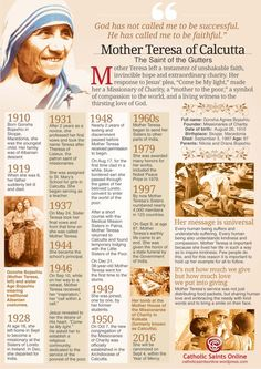 Saint (Mother) Teresa of Calcutta Lesson Plans and Worksheets ...