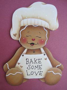 Bake Some Love Gingerbread EPattern by GingerbreadCuties on Etsy, $4.00