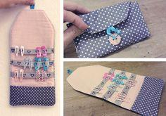 Tolle DIY Haarspangen-Tasche Schöne, übersichtliche, nützliche und praktische Lösung für Haarspangen und Haargummis. Ganz einfach und schnell genäht.