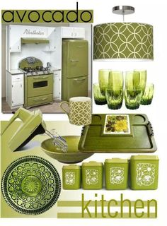Not the appliances but some of it is pretty. I'd go more with Granny Smith green