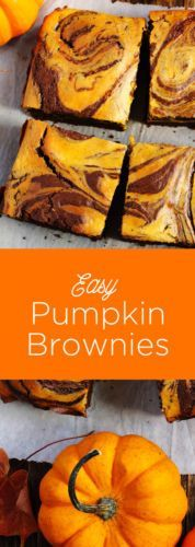Easy Pumpkin Brownies are simple, delicious and perfect for the holidays!
