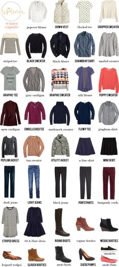 Winter capsule wardrobe.