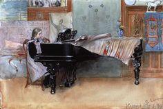 Carl Larsson - Suzanne am Klavier