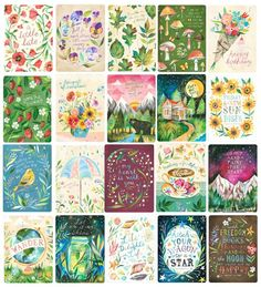 2015 was such a busy year! These 20 greeting cards are about to make their debut with Many are also available as prints in my shop. wishing you all a creative and prosperous ✨ Daily Planner Pages, Happy Planner, Daisy Art, Free Printables, Decoupage, Greeting Cards, Scrapbook, Lettering, Creative