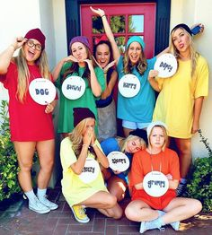 Disney Costumes This Halloween costume is ideal for big groups of friends. Each of you can pick a dwarf that represents you—mine would probably be sleepy. - If you're a Disney addict, these 23 less-common costume ideas are sure to spark your interest. Big Group Halloween Costumes, Hallowen Costume, Cute Costumes, Halloween Outfits, Disney Group Costumes, 7 Dwarfs Halloween Costumes, Teen Costumes, Woman Costumes, Zombie Costumes