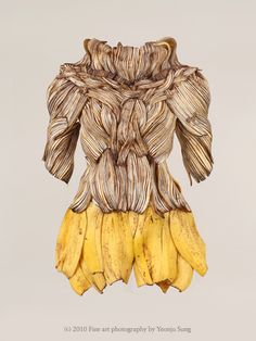 Wearable Foods series by Yeonju Sung, Constructed art forms made with food