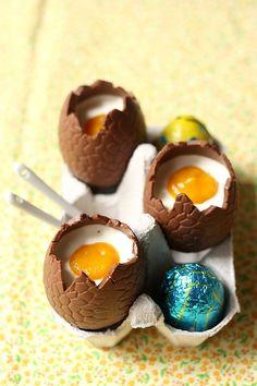 Easter is coming – Panna cotta comme des oeufs en chocolat