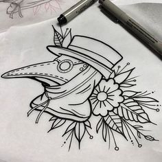 Whipped this guy up today, available as a tattoo. #wip #tattoo #tattoos…