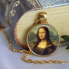 Leonardo Da Vinci  MONALISA Pendant Necklace by LiteraryArtPrints