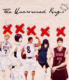 The Uncrowned Kings | Hayama Kotarou, Mibuchi Reo, Nebuya Eikichi, Hanamiya Makoto, Kiyoshi Teppei