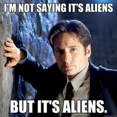 I really want to know how many people who repinned his accually know who this is and how many just thought it was some random hot guy talking about aliens.  FYI its from X-Files, seriously, look it up :)