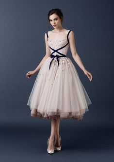Discount Paolo Sebastian Tea Length Tulle Wedding Dresses Blush 2015 A Line Lace Spaghetti Straps Short Bridal Gowns Custom Made Formal Prom Gowns One. Evening Dresses, Prom Dresses, Formal Dresses, Wedding Dresses, Formal Prom, Tulle Wedding, Gown Wedding, Blush Dresses, Bridesmaid Gowns