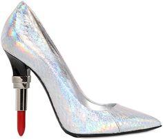 Alberto Guardiani Lipstick Pumps in Silver Iridescent Snakeskin - Buy Online - Designer Pumps