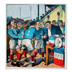 Shop After Match - Vintage Rugby Art Poster created by TheDigitalConsultant. Vintage Comic Books, Vintage Posters, Rugby Images, Rugby Poster, France Rugby, Australian Football, Kunst Poster, Custom Posters, Design Art