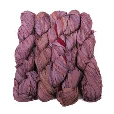 New! Recycled Sari Silk Ribbon, color: Antique Rose