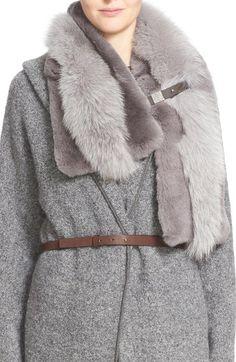Fabiana Filippi Genuine Rabbit & Fox Fur Scarf available at #Nordstrom More