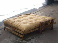 futones de 2 cuerpo con colchón eco cuero color a elección