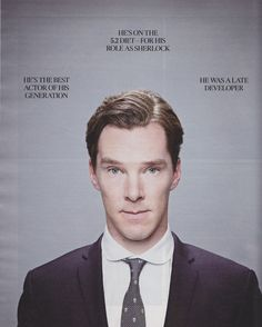 "Benedict Cumberbatch Interview by Caitlin Morans. On his acting: ""It is amazing. It is the thing. it is the thing every actor hopes they will be, and almost never is. it is someone becoming utterly, brightly gone"""