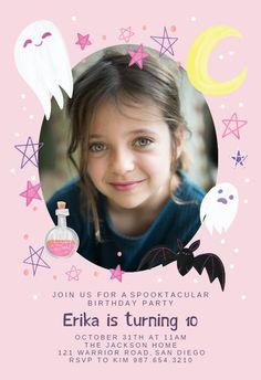 Sweet spooky - Birthday Invitation #invitations #printable #diy #template #birthday #party