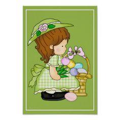 Annabella's Easter Basket d5 Wall Artwork Print