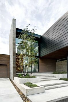 Modern Entrance, Modern Entry, Entrance Design, House Entrance, Design Exterior, Modern Exterior, Interior Design, Residential Architecture, Modern Architecture