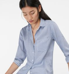 MICRO-FLORAL SHIRT WITH POCKET - Printed - Shirts and Tops - WOMEN - Slovenia…