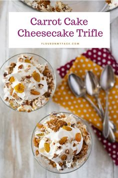 Cheesecake Trifle, Carrot Cake Cheesecake, Trifle Recipe, Cheesecake Recipes, Dessert Recipes, Trifle Desserts, Delicious Desserts, Easy Holiday Desserts, Holiday Recipes
