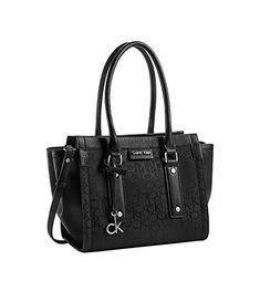 Calvin Klein Daron Logo City Tote Shoulder Bag Handbag Black * Want additional info? Click on the image.