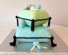 Baby Shower Pillow and Building Blocks Cake