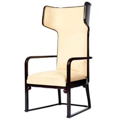 Josef Hoffmann, upholstered armchair, bent beech and plywood, Vienna Secession, ca. 1905