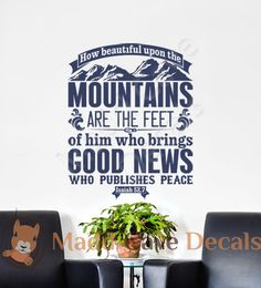 Isaiah 52:7 Who Publishes Peace Vinyl Wall Decal by MaddCaveDecals