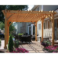 Outdoor Living Today Breeze 20 Ft. W x 12 Ft. D Cedar Pergola