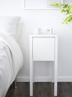 Ikea Nordli Nighstand, $79.99 This nightstand is less than a foot wide, so it fits into the narrowest of spaces. Inside, there's a deep drawer and a place to hide a charger for your phone.