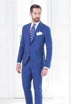 Abito Blu chiaro Gessato - Lana Tropical  9b3335be316