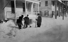 Snow on main street in the 1930s, photo from Rensselaerville Historical Society