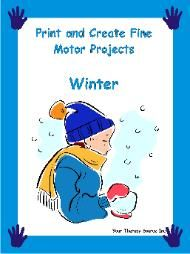 Blizzard Fine Motor Game - (Sample page from Print and Create Fine Motor Projects - Winter) - from your therapy source - - Pinned by @PediaStaff – Please visit ht.ly/63sNt for all (hundreds of) our pediatric therapy pins