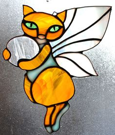 STAINED GLASS, Sly the Fairycat.