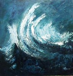 Feel the power of the sea...painting by Ann Brennan