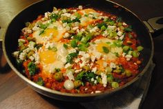 Shakshuka (Eggs Poached in a Spicy Tomato Sauce)