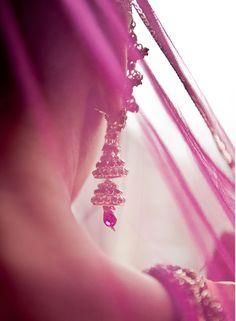 Lovely jhumki crystal earrings...