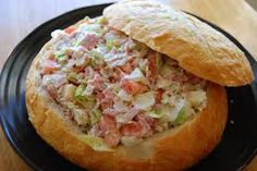Italian Hoagie Dip 1/4 cup of ham 1/4 cup pepperoni 1/4 cup of genoa salami 1/4 cup provolone 1 tomato and onion 1 tsp of garlic salt and oregano 1/4 cup mayo 1/2 head iceberg lettuce Chop meats, cheese, tomato, onion and lettuce and add to a bowl.   Stir in the oil and mayo. Slowly add the garlic salt and oregano. Slice the bread into small pieces and serve cold. Enjoy!!!