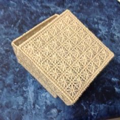 Adapted from a tissue box cover pattern
