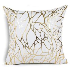 Show your design style by decorating with these glamorous, beautifully handmade Gold & Glam Pillow Covers. - Made from Cotton - Approximate size is 18 in x 18 in - Select Color Number for Pattern Choice - Pillow Insert not Included Glam Pillows, Bed Pillows, Silver Pillows, West Elm, Cushion Covers, Pillow Covers, Home Sofa, Rustic Decorative Pillows, Colorful Pillows