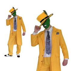 ON SALE!!! - £23.99 - Fancy Dress Mens 90s Yellow Gangster Zoot Suit Costume  Buy here: https://sowestfancydress.com/products/mens-fancy-dress/fancy-dress-mens-yellow-gangster-zoot-suit-the-mask-jim-carrey-costume/
