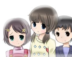 Corpse Party, the ghost kids before they were kidnapped. So sad!!!