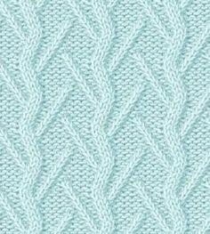 Подборка узоров для вязания спицами. Данные узоры вяжутся с использованием наклонных петель вправо или влево.