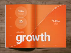 Company Growth Infographic designed by Andrew Fisher. the global community for designers and creative professionals. Chart Infographic, Creative Infographic, Brochure Layout, Brochure Design, Editorial Design, Annual Report Layout, Annual Reports, Magazine Layout Design, Newspaper Design