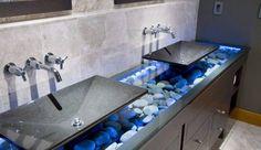 Zen Bathroom Counter.