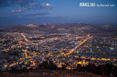 The city of Shechem in Judea & Samaria by Boruch Len. Shechem is first mentioned in Genesis 12:6 as Abraham's first stop in Israel. Later, Joseph was buried here. See also Psalms 60 and 108 for King David's mention of this city with strong roots in the Jewish nation.