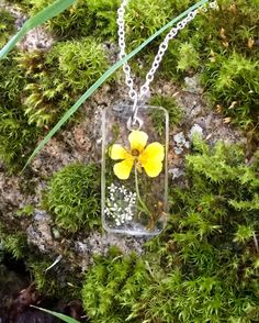 Resin jewelry. Spring collection. Norwegian nature